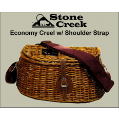Economy Split Willow Fishing Creel w/ Shoulder Strap