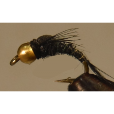 Split Foam Emerger - Black - Bead Head
