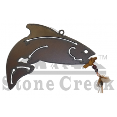 Metal Christmas Ornament - Trout
