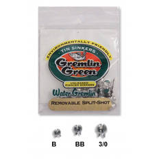 Water Gremlin™ Green -  Tin Split Shot - 12 Pack
